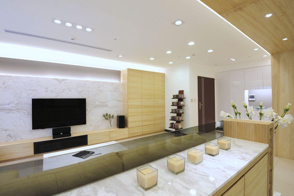 清新时尚简约装饰风格家居室内筒灯装饰效果图