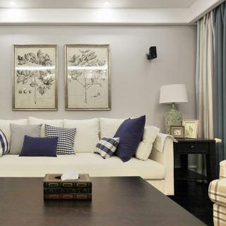优雅美式客厅照片墙设计