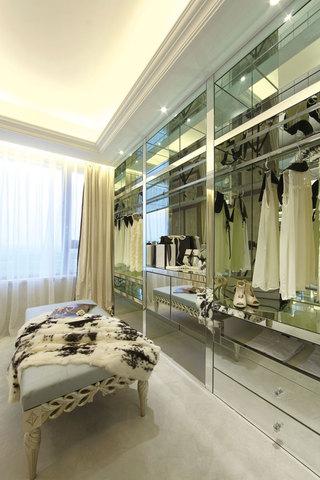 时尚现代新古典家居衣帽间金属衣柜设计