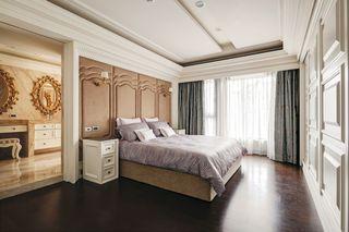 精致优雅现代卧室床头软包设计