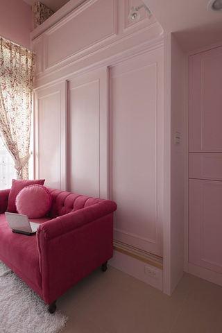 甜美宜家风沙发背景墙设计