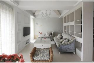 纯白简欧风格 三室两厅效果图