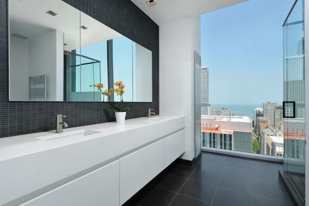 摩登都市风卫生间浴柜设计
