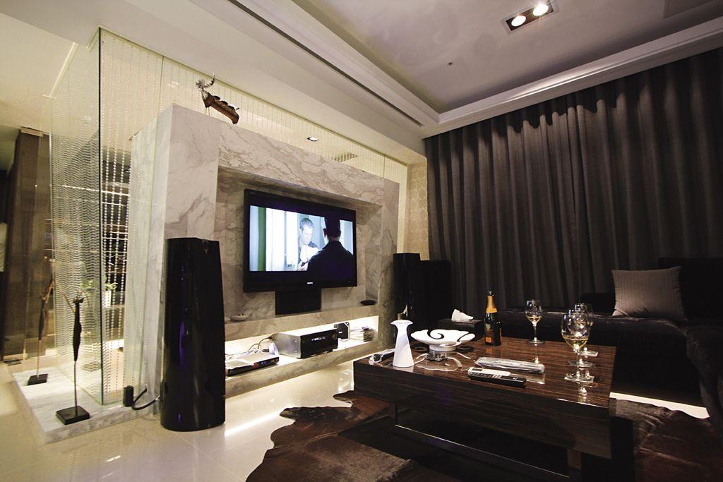 奢华大气美式客厅电视背景墙效果图
