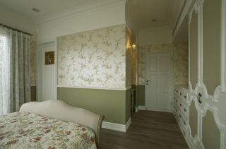 简欧田园风卧室 小碎花背景墙设计