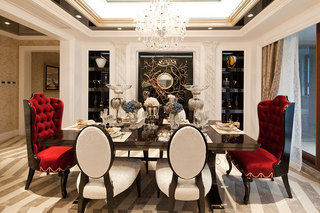奢华新古典宫廷风餐厅效果图