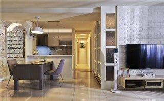 时尚现代宜家风混搭 三室两厅效果图