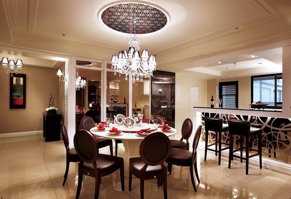 优雅美式风格 餐厅吊顶效果图