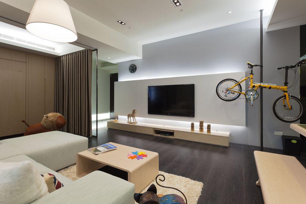 时尚简约风客厅 电视背景墙设计