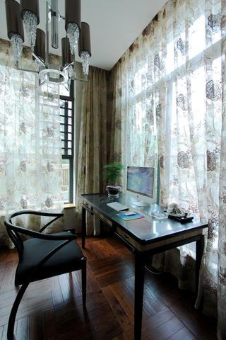 典雅中式书房窗帘效果图
