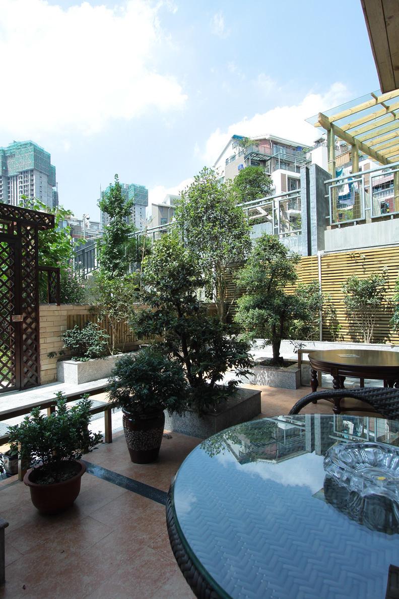 清新优雅新中式花园效果图
