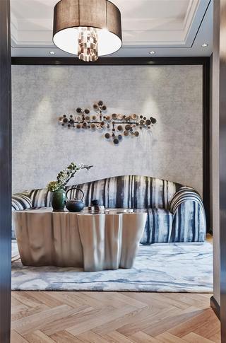高贵摩登新古典别墅 沙发背景墙设计