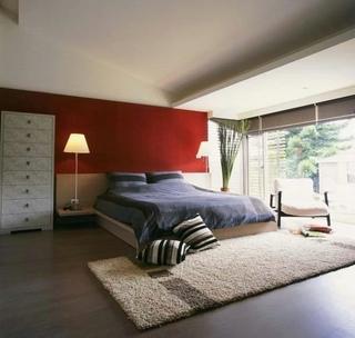 复古北欧风 卧室背景墙效果图
