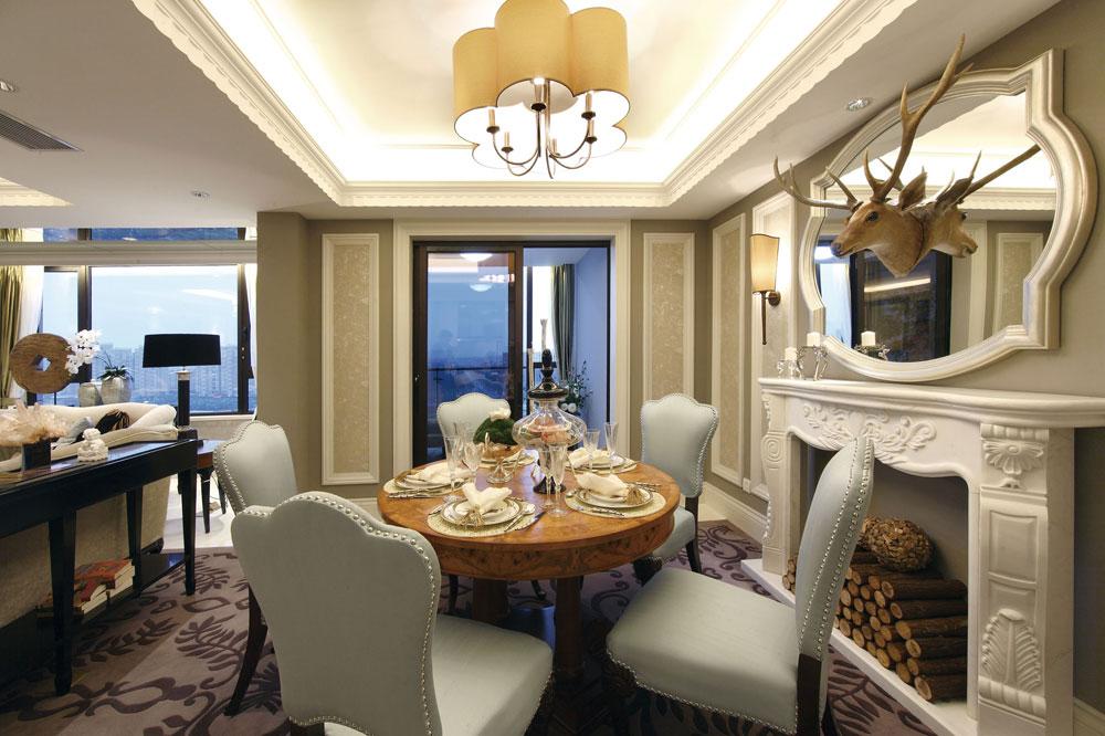 新古典主义装修风格餐厅装饰效果图