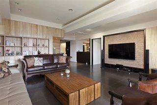 素雅现代美式装修风格三室两厅室内设计装潢图