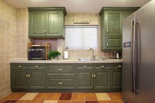 复古橄榄绿美式 厨房橱柜设计