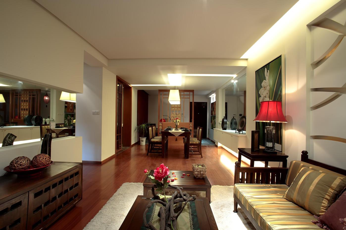 雅致东南亚自然风情公寓室内装潢美图