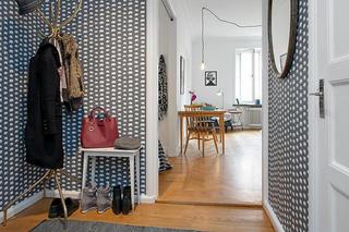 时尚北欧风格家居玄关壁纸装饰效果图