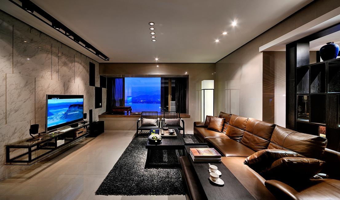 时尚摩登现代客厅地台飘窗设计