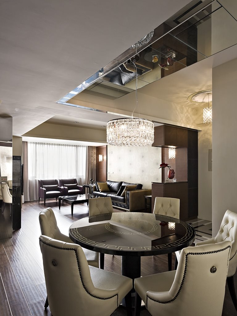 开放式现代餐厅吊灯装饰效果图