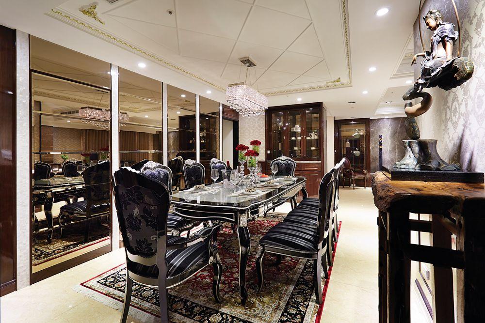 摩登新古典 餐厅效果图