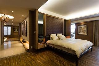 高端沉稳中式 卧室隔断设计