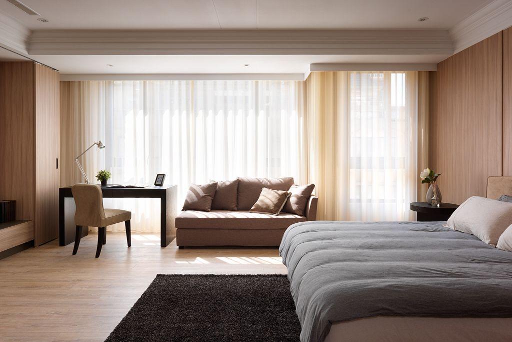 舒适现代简约 卧室窗帘效果图