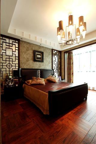 精美新中式卧室背景墙设计