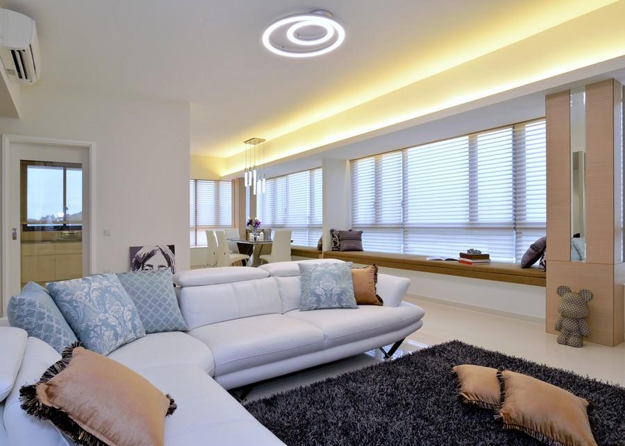 明亮简约设计现代风格公寓室内吊顶效果图