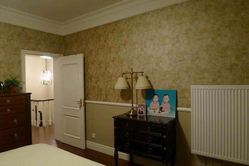 复古乡村美式卧室壁纸设计