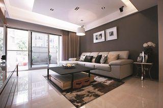 现代都市风 客厅沙发背景墙设计