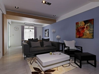 沉稳简中式混搭 单身公寓设计