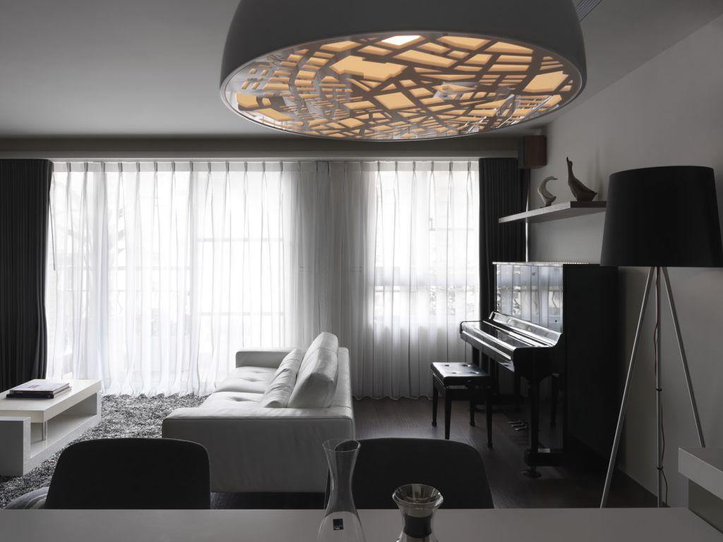 时尚现代风客厅吊灯效果图
