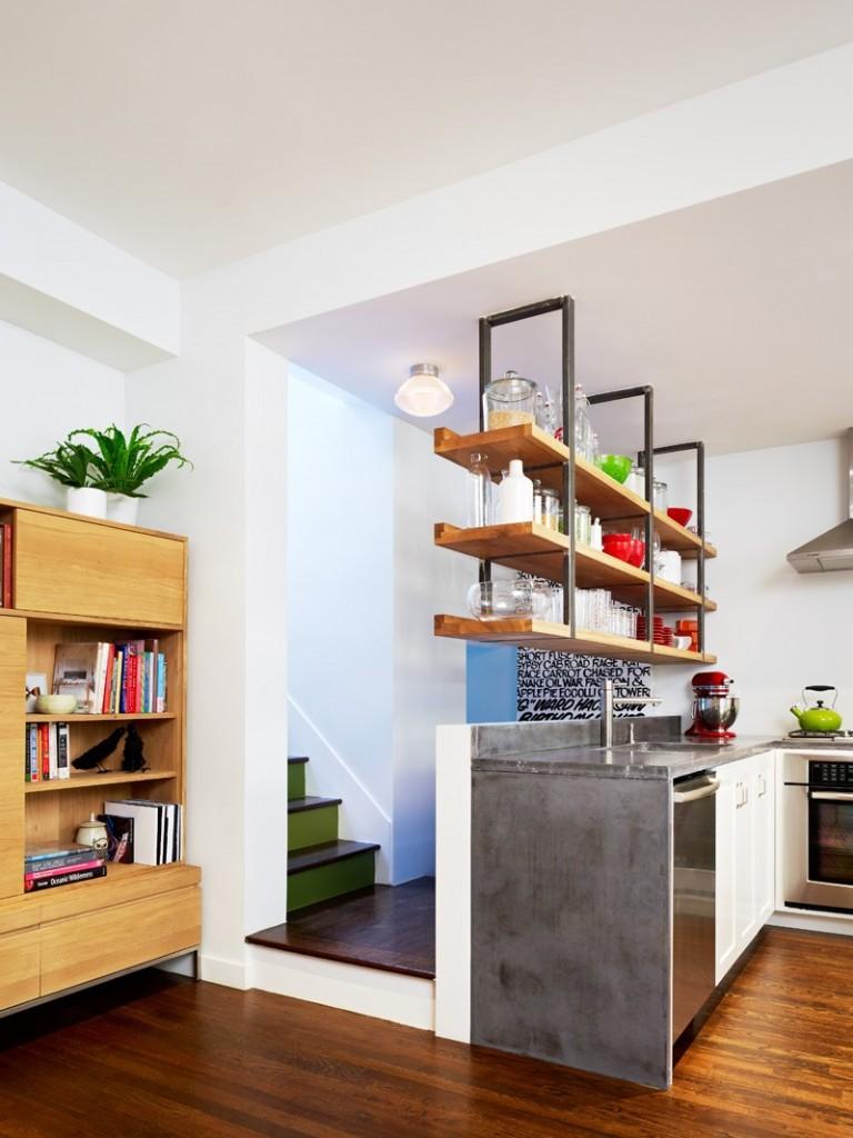 宜家小复式厨房摆台隔断设计