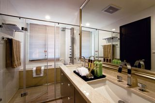 现代家居卫生间洗手台设计