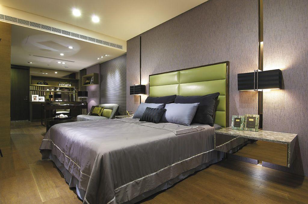 时尚摩登简欧别墅卧室设计