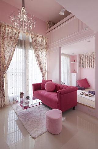 甜美粉色宜家风家居效果图