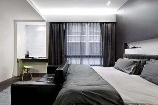 摩登灰色系现代卧室效果图