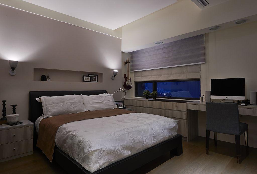 个性后现代卧室背景墙效果图