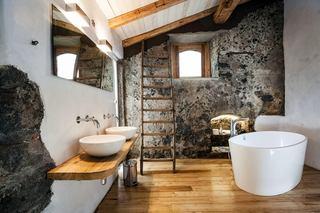 个性自然风混搭浴室设计