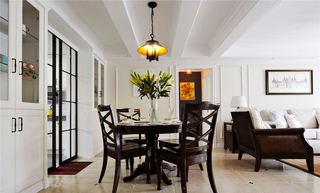 休闲美式餐厅 实木餐桌设计