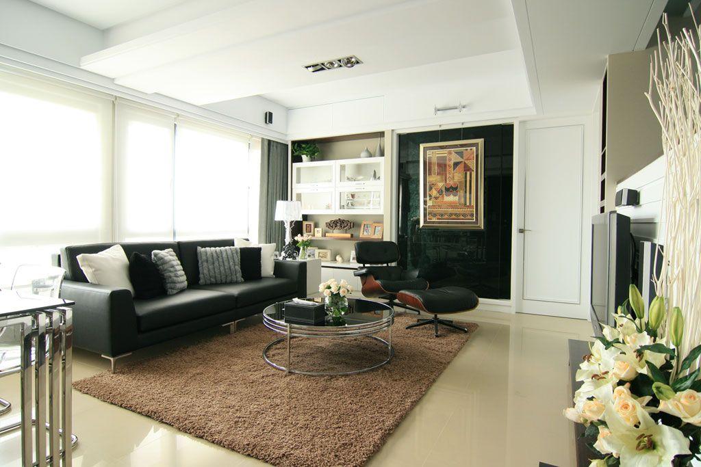 时尚现代简约风装修客厅背景墙装饰