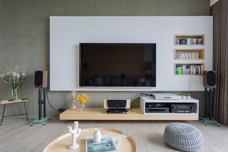 唯美簡約電視墻設計