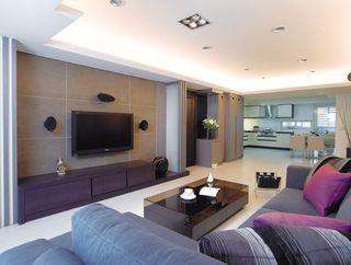 现代简约客厅吊顶设计
