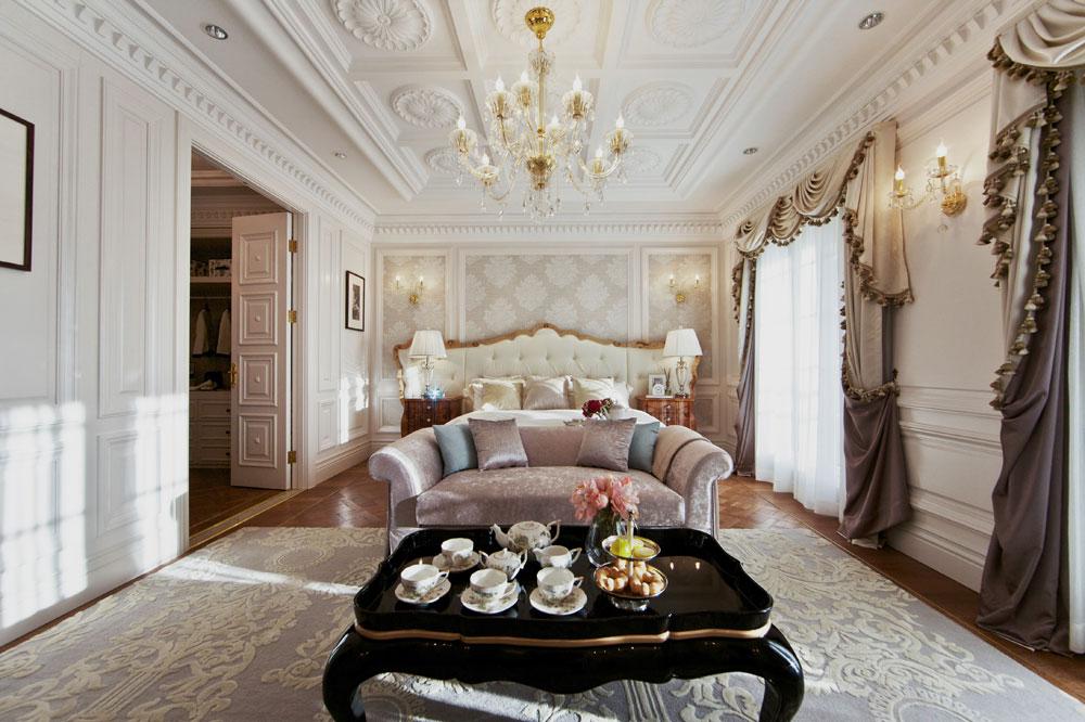 精美时尚豪华卧室吊顶设计图