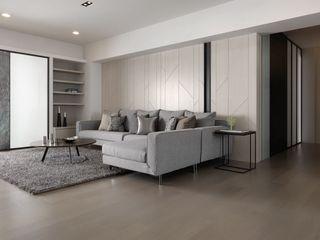 灰色调时尚现代三室两厅装饰图
