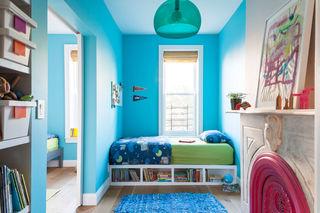 藍色唯美簡約兒童房裝飾圖