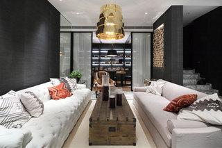 黑白时尚现代别墅室内图