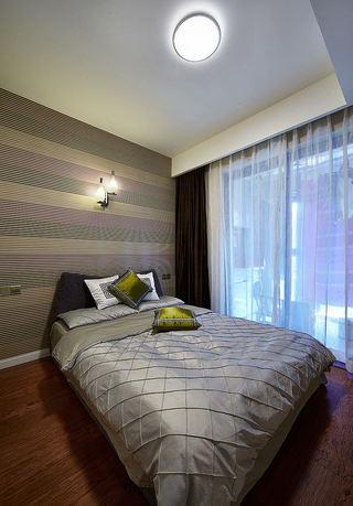 休闲美式卧室条纹背景墙设计
