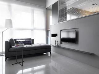 灰色系现代风 客厅电视背景墙设计